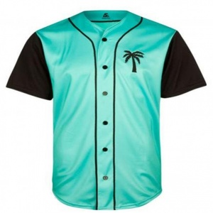 Baseball jersey sea green color sportswear manufacturer