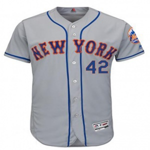 Baseball jersey grey color with blue details clothing manufacturer