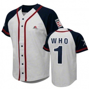 Baseball jersey white color with royal blue arm clothing manufacturer