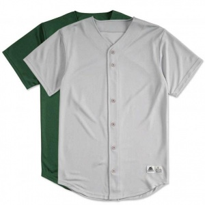 Baseball jersey in grey and green color clothing manufacturer
