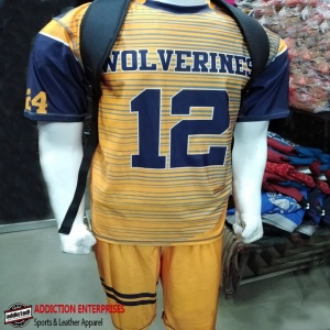 Wolverines uniform shirt front production with bag by clothing manufacturer