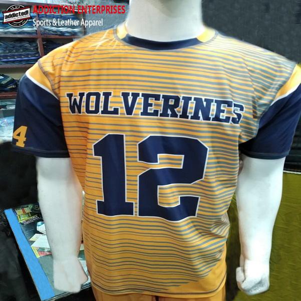 Wolverines uniform shirt front production clothing manufacturer