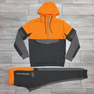 Orange tracksuit with grey panels by addictionentps
