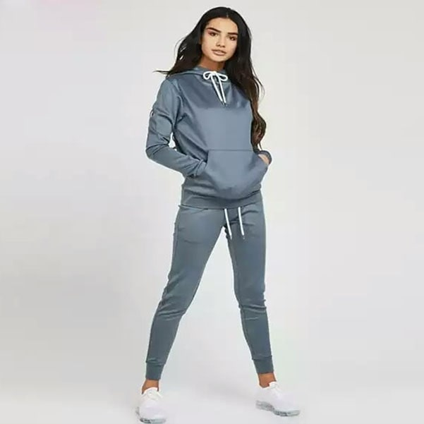 sapphire blue women track suit with white draw cord by addictionentps