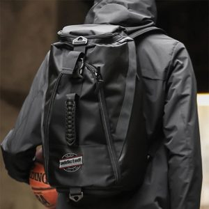 Black basketball backpack with logo by addictionentps