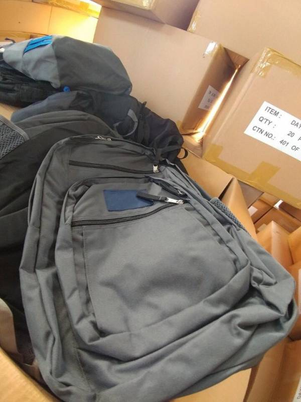 Grey backpack with your brand details